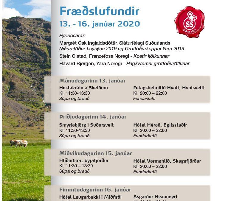 Fræðslufundir 13. – 16. janúar 2020
